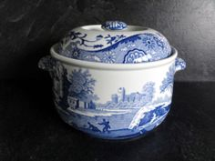 Spode Blue Italian Imperial Cookware 3 Pint Casserole - Oven to table ware
