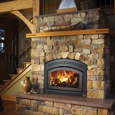 Full service stove, fireplace and fireplace insert shop with a complete selection of pellet, gas and wood products. Pellet Fireplace Insert, Pellet Stove Inserts, Wood Burning Fireplace Inserts, Fireplace Hearth, Home Fireplace, Fireplace Design, Farmhouse Fireplace, Fireplace Ideas, Rustic Farmhouse