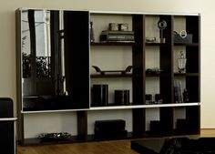Pombol Bookcase With Glass Door. Config options at http://www.gomodern.co.uk/store/files/large-product-images/pomboloptions.pdf