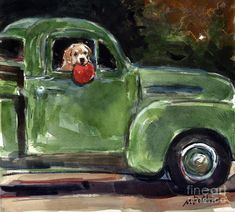 Vintage Truck Painting - Wham-o by Molly Poole