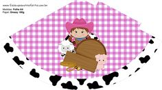 Uau! Veja o que temos para Chapeuzinho Fazendinha Menina Morena Goody Bags, Silhouette Projects, Goodies, Party, Crafts To Sell, Party Kit, Brunettes, Cow, Horses