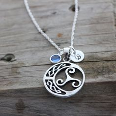Sterling silver Triskelion Celtic Knot Necklace, Celtic Jewelry, Gifts for Athletes, Popular Pendant for neutralize harmful energy, gift