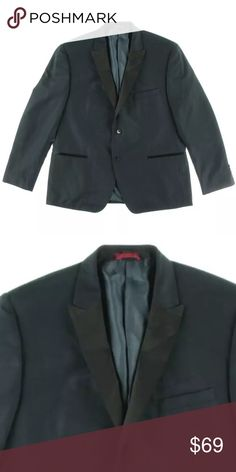 Alfani - Navy Textured Slim Fit Lined Blazer 38R Alfani 3818 Mens Navy Textured Slim Fit Lined Sportcoat Blazer 38R Alfani is a modern, wear to work brand Manufacturer: Alfani Size: 38R Size Origin: US Manufacturer Color: Navy Retail: $250.00 Condition: New without tags Style Type: Sportcoat Collection: Alfani Fit: Slim Fit Closure: Button Closure Vents: Double Vent Jacket Length: Regular Total Length: 29 Inches Sleeve Length: 26 Inches Material: 65% Polyester/35% Rayon Fabric Type…