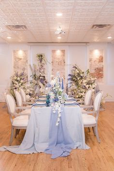 Pantones classic blue wedding Reception Table, Wedding Reception Decorations, Reception Ideas, Wedding Shoot, Blue Wedding, New York Wedding, Color Of The Year, The Borrowers, Pantone