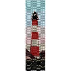 Lighthouse Peyote Bead Pattern, Bracelet Cuff, Bookmark, Seed Beading Pattern Miyuki Delica Size 11 Beads - PDF Instant Download by SmartArtsSupply on Etsy