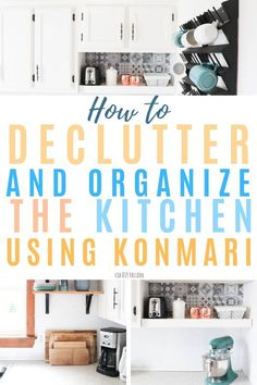 Declutter and organize your kitchen using the KonMari practice. Learn the best tips and tricks to successfully declutter your kitchen cabinets, gadgets, and more. How to effectively utilize vertical and wall space, too! Clutter Organization, Home Organization Hacks, Kitchen Organization, Organizing Ideas, Declutter Your Home, Organizing Your Home, Decluttering Ideas Feeling Overwhelmed, Arm And Hammer Super Washing Soda, Clutter Free Home