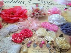 Couture Headband Kit for Baby Shower Headband Supplies Couture Pink White Cream by ShabbyFlowerBowtique, $59.99