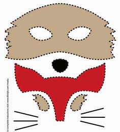 fox mask printable template - I printed them out on cardstock rather than tracing onto felt. Fox Costume, Costumes, Elena Costume, Zorro Costume, Diy For Kids, Crafts For Kids, Fox Mask, Raccoon Mask, Fox Party