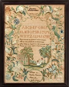 M. Finkel and Daughter's antique needlepoint samplers