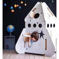 Kidsonroof Spielzeug aus Karton Rakete für Kinder