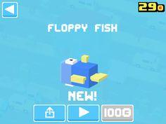 Just unlocked Floppy Fish! #crossyroad