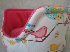 Luxury large size guinea pig bed in a pretty bird by SqueakDreams, £15.00