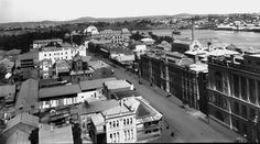 Looking south-west along George St,Brisbane in the 1920s.