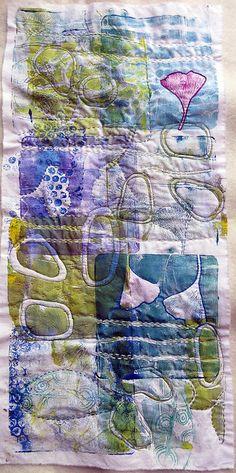 in progress by janelafazio in progress monoprint on cloth ~ by Jane LaFazio