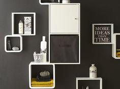Etagère 3 cubes blanc, 3 dimensions : 30 x 27 x 24 x 24 cm mm Etagere Cube, Cubes, Decoration, Console Table, Bathroom Medicine Cabinet, Shelves, House Design, Furniture, Home