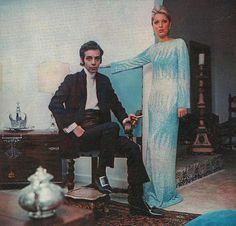 "Brazilian fashion designer Dener Pamplona de Abreu and his Model/ Muse and wife Maria Stella Splendore, photographed for the magazine ""O Cruzeiro"".June 1968."