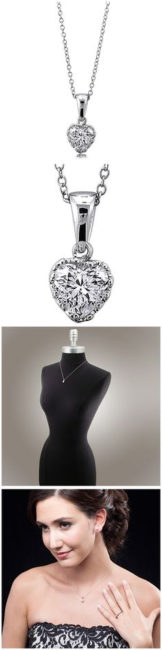 Sterling Silver CZ Solitaire Fashion Necklace