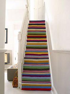 Inspiratie trap: tapijt ipv verf