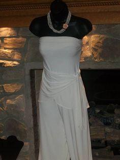 WHITE HOUSE BLACK MARKET 1 PIECE ROMPER JUMPSUIT PALAZZO SZ M in Jumpsuits & Rompers | eBay