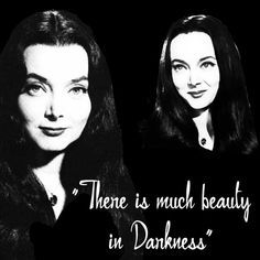 The Addams Family Morticia Adams, There is much beauty in Darkness, is the ultimate role model for girls. Happy Almost Halloween! Los Addams, Addams Family Morticia, Die Addams Family, Morticia Adams, Gomez And Morticia, Dark Beauty, Carolyn Jones, The Munsters, Monsters