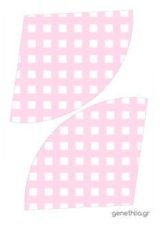 Paper cones templates-χωνακια για ζαχαρωτα ροζ καρο