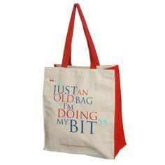 """Old Bag"" Shopping Bag"
