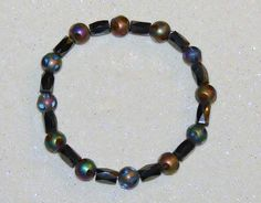 MAGNETIC BEAD STRETCH BRACELET-GENUINE HEMATITE-MULTI-COLOR CUT GLASS BEADS-GIFT-$9.99-FREE SHIPPING | eBay