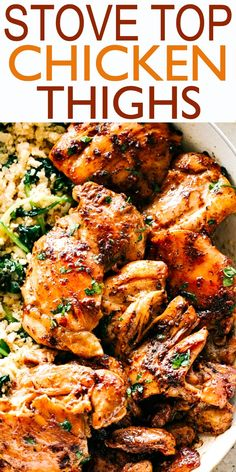 Juicy Stove Top Chicken Thighs - Perfectly golden, tender, and juicy skinless an. Juicy Stove Top Chicken Thighs – Perfectly golden, tender, and juicy skinless and boneless chicke Stove Top Chicken Thighs, Pan Seared Chicken Thighs, Chicken Thighs Dinner, Cooking Chicken Thighs, Boneless Chicken Thighs, Skillet Chicken Thighs, Chicken Breasts, Easy Chicken Thigh Recipes, Chicken Thights Recipes