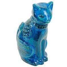 "Amazing Big ""Rimini Blu"" Cat by Aldo Londi"
