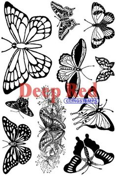 Butterflies - Cling Rubber Stamps
