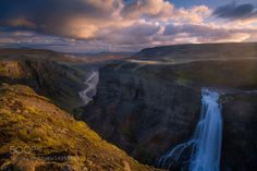 The Canyon Journey by TrevorAnderson  color water nature falls canyon iceland trevor anderson haifoss The Canyon Journey TrevorAnderson