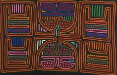 Early to Mid 20th Century Framed Hand Made Kuna Tribe Fabric Mola. San Blas Island, Panama. Unsigned. Good Condition, Backing with Damp Stains. Frame Measures 16-1/2 Inches by 22-1/2 Inches. Shipping $48.00