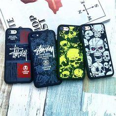 スカル Stussy iPhone7/7 plus ケース 面白いドクロ柄 シュプリーム 落書き 耐衝撃 丈夫 カッコイイ 激安 送料無料