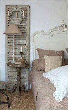 Decorating With Old Shutters Taking old shutters and an old arch