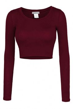 Sizes may run small; please choose a size up. This lightweight long sleeve round neck crop top is perfect for any occasion. You can wear it casually with high waisted denim pants or dress it up with a Fashion Mode, Teen Fashion, Fashion Outfits, Womens Fashion, Ladies Fashion, Fashion Stores, Cheap Fashion, Fashion Clothes, Fashion Ideas