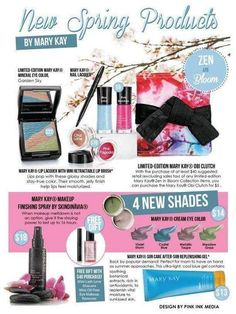 Zen in Bloom.  Spring 2013 New Products! I can get them for ya :) Shop Mary Kay! Order online today! www.marykay.com/bjanacheree or email me at bjanacheree@marykay.com