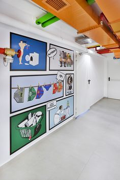 dormitory laundry wall design and interior with superheroes #rendahelindesign #design  #decor #decoration #interior #interiordesign #konforist #dorm #male #laundry #room #marvel