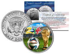 2014 FIFA WORLD CUP BRAZIL Brasil Soccer Football JFK Half Dollar US Coin w/COA    eBay