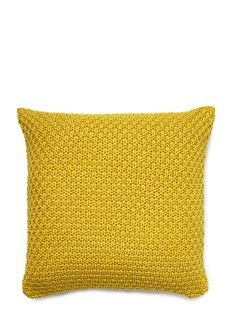 Lime vintage jacquard knit cushion - cushions - Home, Lighting & Furniture Knitted Cushions, Spring Trends, Mellow Yellow, Home Lighting, Bedroom Ideas, Lime, Throw Pillows, Living Room, Knitting