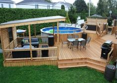 Above Ground Pool Landscaping, Above Ground Pool Decks, Backyard Pool Landscaping, In Ground Pools, My Pool, Swimming Pools Backyard, Lap Pools, Indoor Pools, Pool Deck Plans