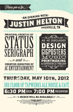 // An Evening With Justin Helton...