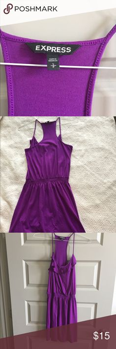 Express women's dress Express women's purple dress, great for a fun causal look or can be worn as a swim coverup. Size S, but could fit a M. 60% cotton 40% modal, gently worn, like new Express Dresses Midi