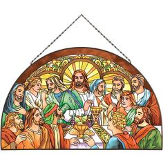 Art Supper - Last Supper Last Supper Art, The Last Supper Painting, Jesus Last Supper, Catholic Pictures, Religious Photos, Religious Art, Stained Glass Ornaments, Stained Glass Patterns, Stained Glass Art