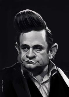 Johnny Cash Caricature on Behance