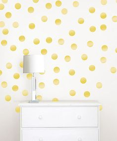 Look at this #zulilyfind! Gold Confetti Dots Decal Set #zulilyfinds
