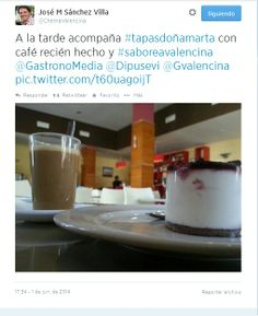 @ChemaValencina desde #TapasDoñaMarta de #SaboreaValencina