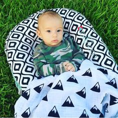 Fall gatherings are in full swing, and our new blanket prints are perfect for them all! Who is loving our mountain blanket as much as much as my handsome little nephew? | Modern Burlap