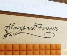 Always and Forever | Valentine's day decor Love Vinyl Wall Decal Quote