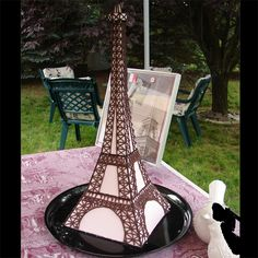 JD Cakes French Themed Bridal Shower with Eiffel Tower Cake