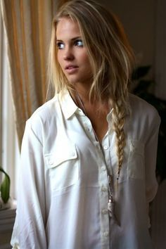 messy side braids. Great rainy day hair.